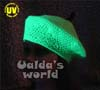 fluorescent green beret with stalk